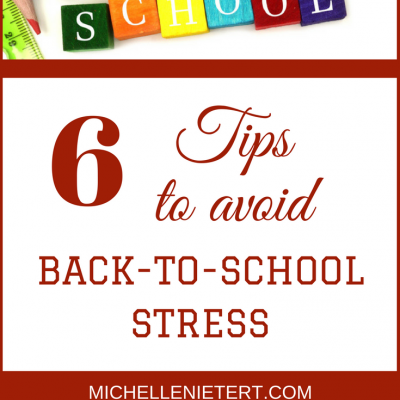 As a professional counselor, I work with clients all the time regarding stress management and back to school is definitely a season that tests even the best time management professional. Below are six tips to help you succeed: